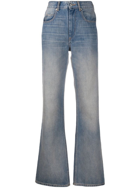 Isabel Marant Étoile Belvira high-rise flared jeans in blue