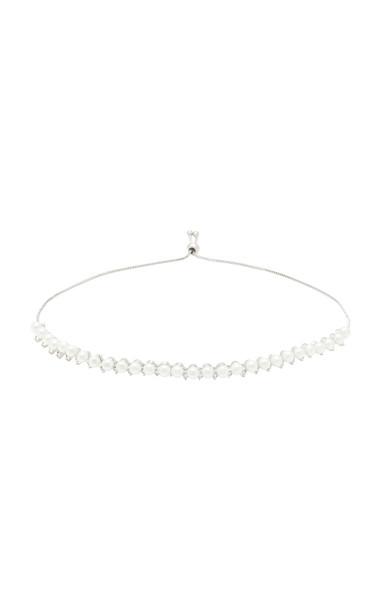 FALLON Rhodium-Plated Pearl Choker in white