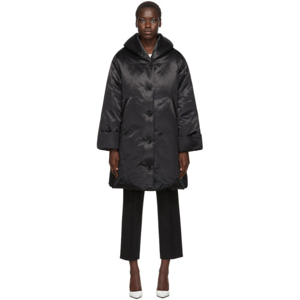MM6 Maison Margiela Black Down Button Coat