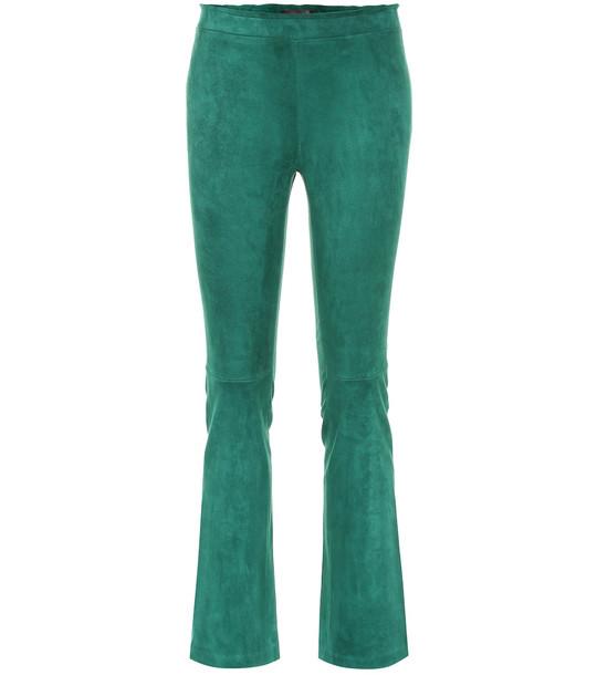 Stouls JP suede bootcut leggings in green