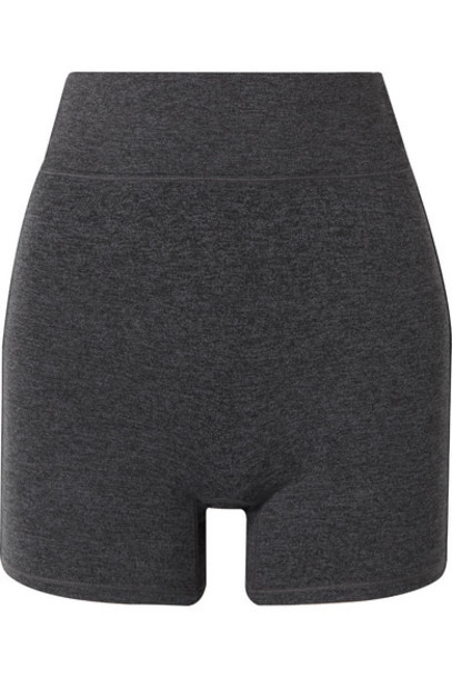 We/Me - The Bend Stretch-jersey Shorts - Charcoal