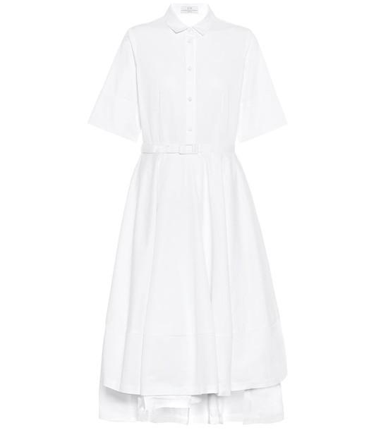 Co Cotton-sateen shirt dress in white