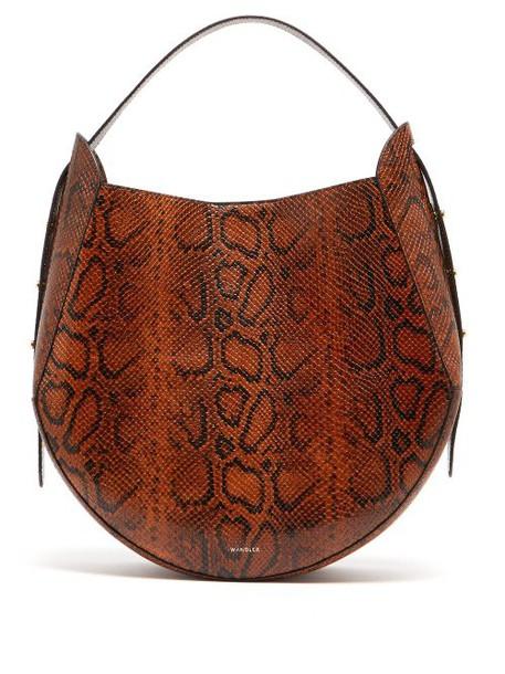 Wandler - Corsa Python Effect Leather Tote - Womens - Python
