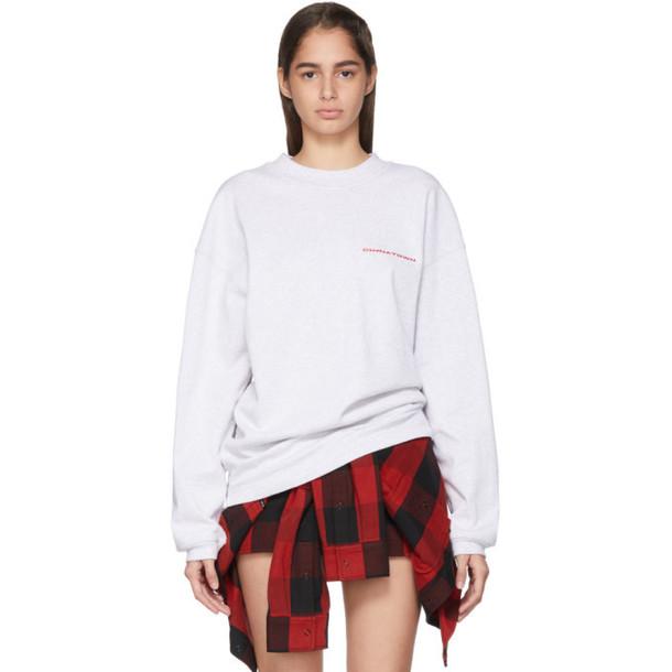 Alexander Wang Grey Chynatown Sweatshirt