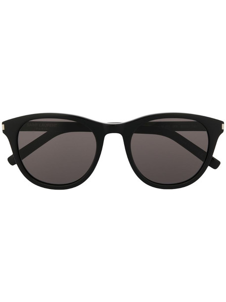 Saint Laurent Eyewear SL 401 round-frame sunglasses in black