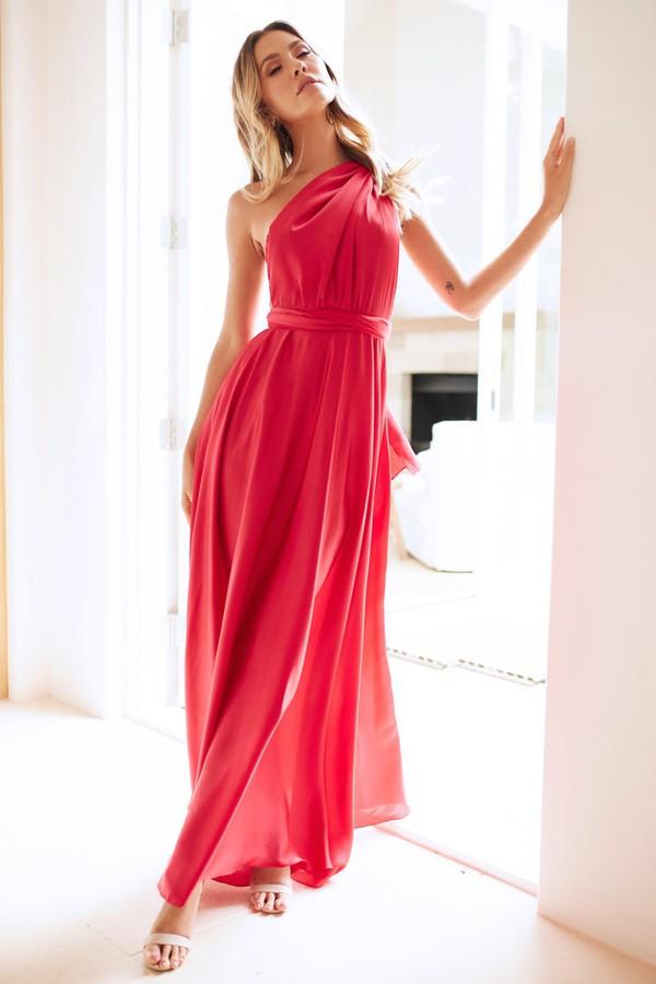 dress red formal dress prom dress party maxi dress