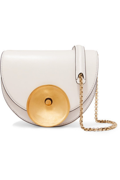 Marni - Monile Small Leather Shoulder Bag - White