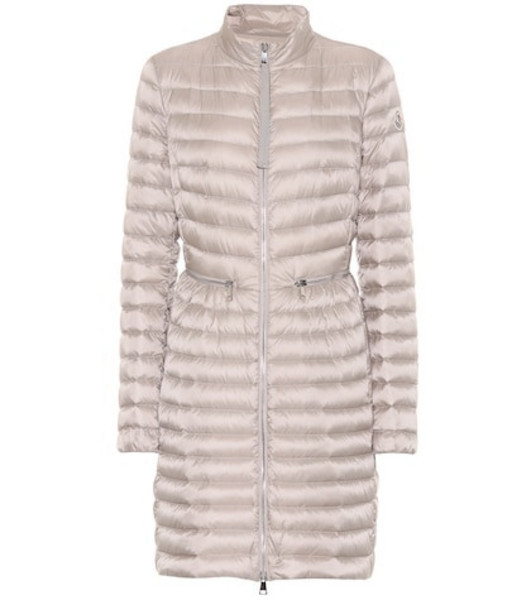Moncler Agatelon quilted down coat in beige