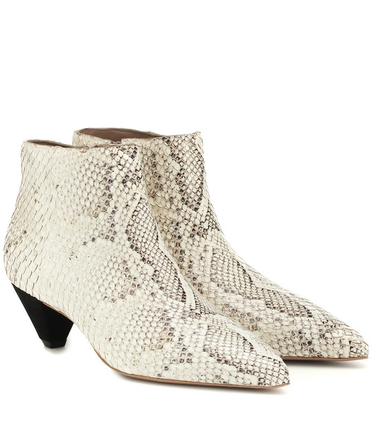 Mercedes Castillo Julienne leather ankle boots in beige
