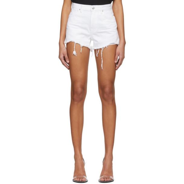 Alexander Wang White Bite Shorts
