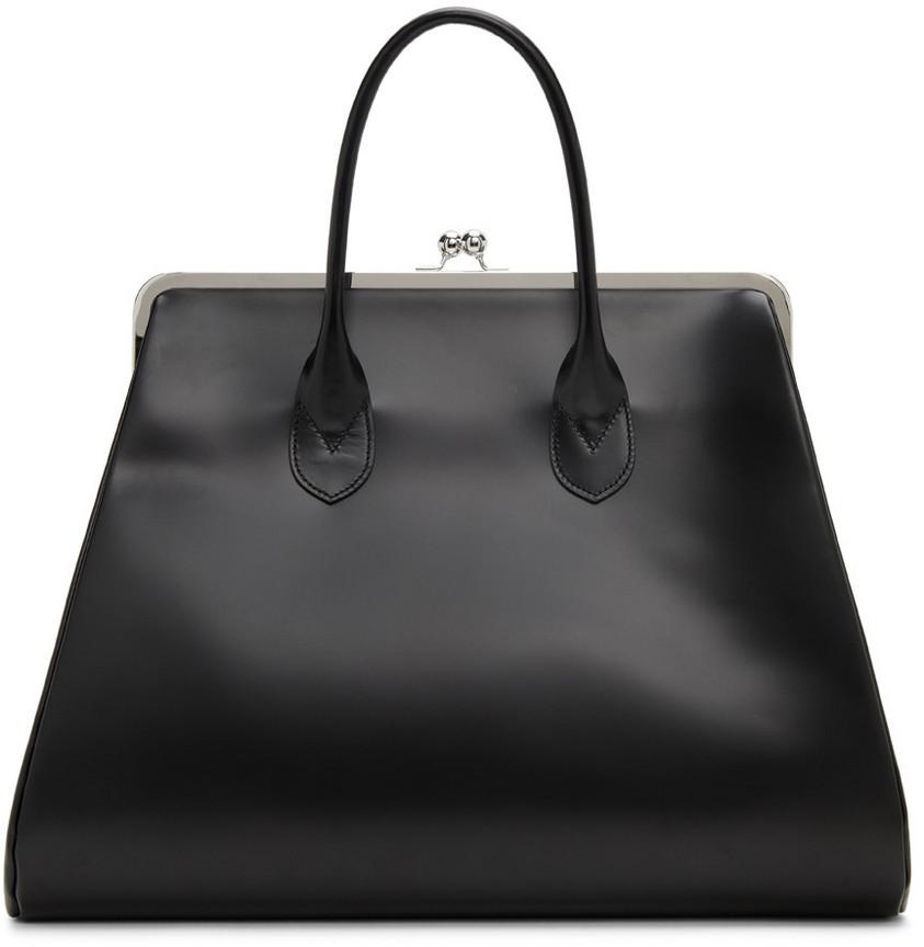 Comme des Garçons Comme des Garçons Leather Clasp Bag in black