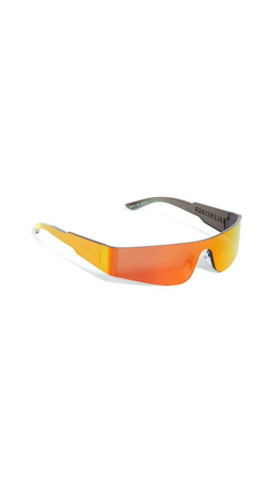 Balenciaga Mono Futuristic Sunglasses in grey
