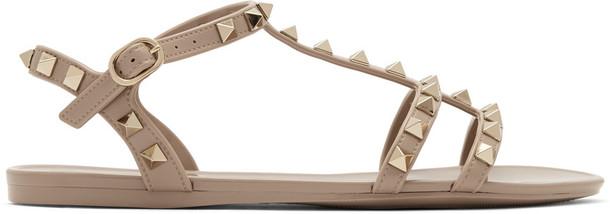 Valentino Garavani Pink Rockstud Jelly Sandals