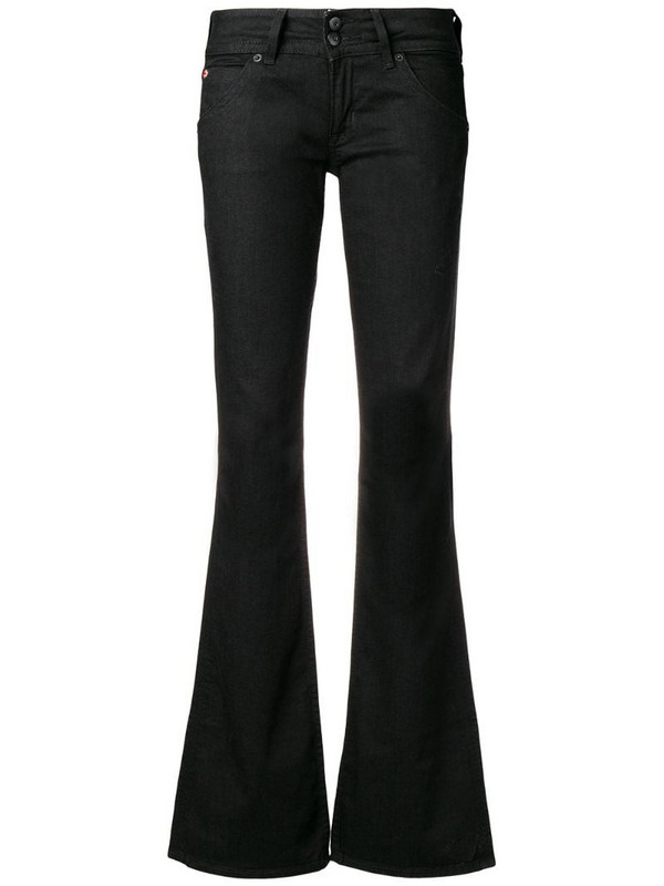Hudson low rise flared jeans in black