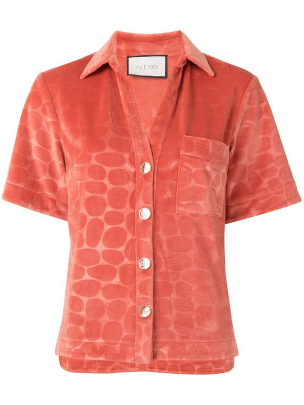 Alexis Cailey printed shirt in pink