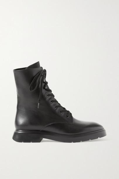 Stuart Weitzman - Mckenzee Leather Ankle Boots - Black