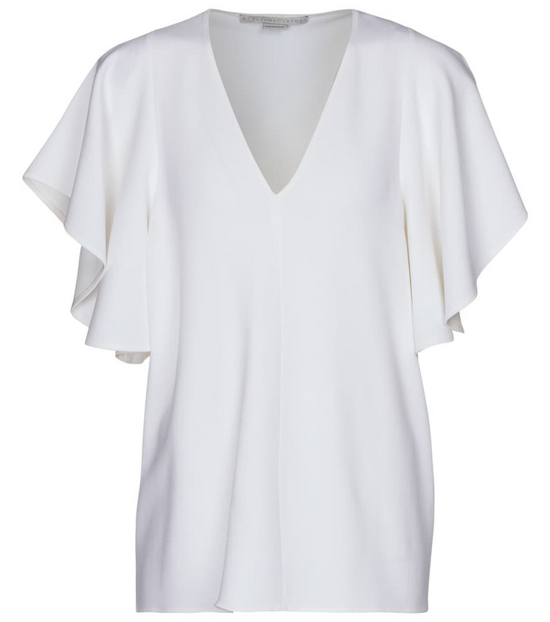 Stella McCartney Mallory stretch-cady top in white