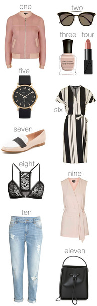 hello fashion blogger sunglasses make-up jewels dress shoes jacket jeans bag