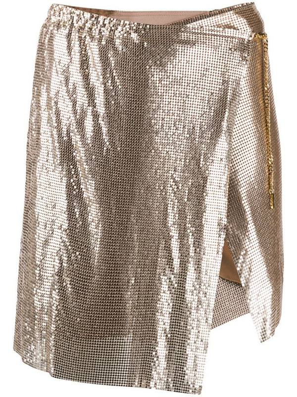 POSTER GIRL short chainmail skirt in gold