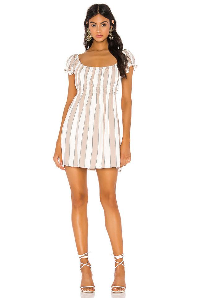 Capulet Gracie Mini Dress in tan