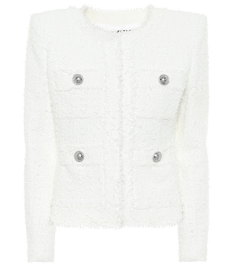 Balmain Tweed jacket in white