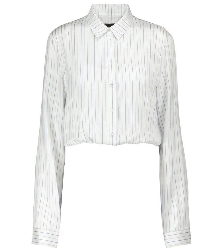 RtA Ludovica striped silk shirt in white