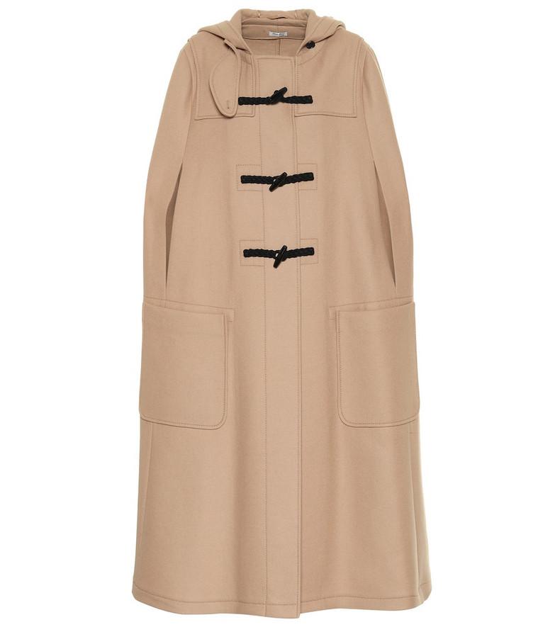 Miu Miu Wool cape in beige