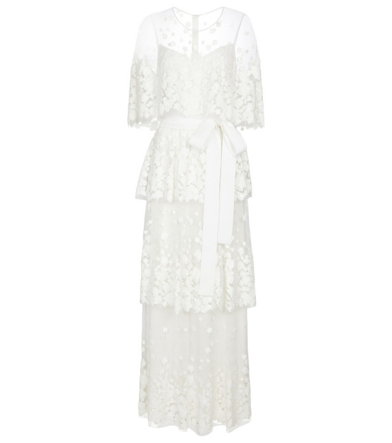 Elie Saab Sequined bridal gown in white