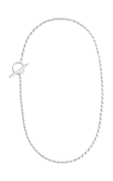 All Blues Rope Sterling Silver Polished Necklace