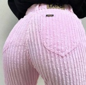 jeans,lee jeans pink material ribbed