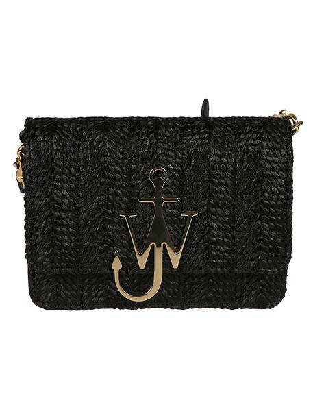 J.W. Anderson Jw Anderson Raffia Anchor Shoulder Bag in black