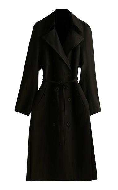 GIA STUDIOS Oversized Trench Coat in black