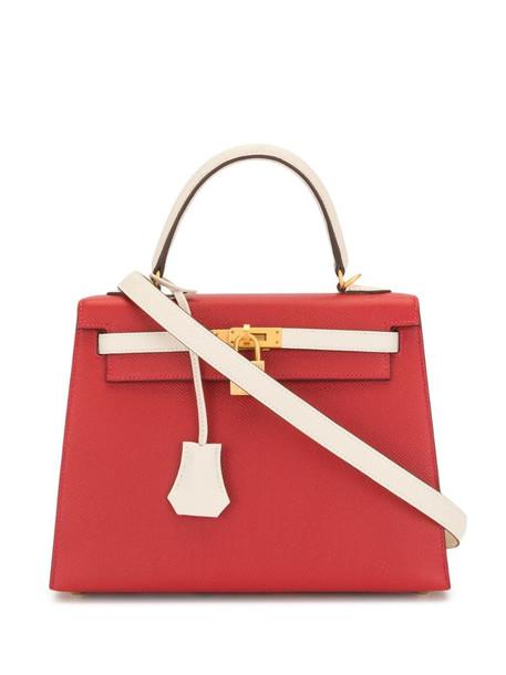 Hermès 2019 pre-owned Kelly 25 2way bag in red