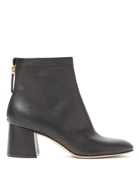 Gianvito Rossi - Round-toe Leather Ankle Boots - Womens - Black