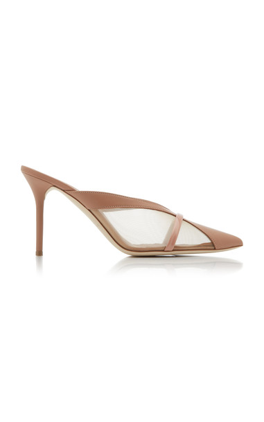Malone Souliers Bobbi Leather And Mesh Mules in neutral