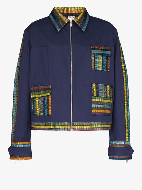 Bethany Williams woven recycled cotton shirt jacket