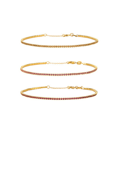 joolz by Martha Calvo Micro Tennis Bracelet Set in gold / metallic