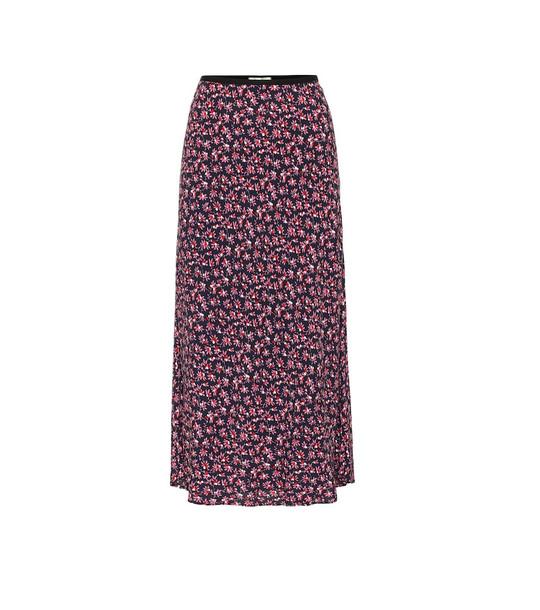 Diane von Furstenberg Mae floral crêpe midi skirt in pink
