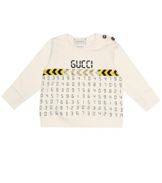 Gucci Kids Baby printed cotton sweatshirt in white