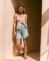 shorts,top,shoes