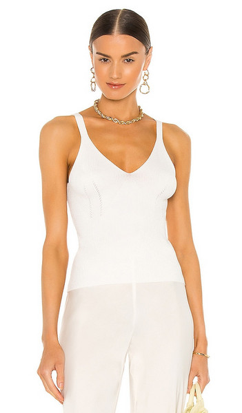 VALENTINA SHAH Taylor Knit Top in Cream in white