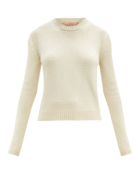Brock Collection - Round-neck Cashmere Sweater - Womens - Beige
