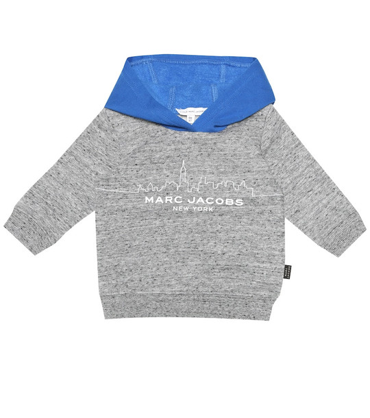 Little Marc Jacobs Baby cotton-blend hoodie in grey