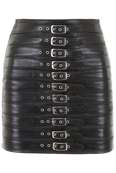 Manokhi Buckled Dita Skirt in black