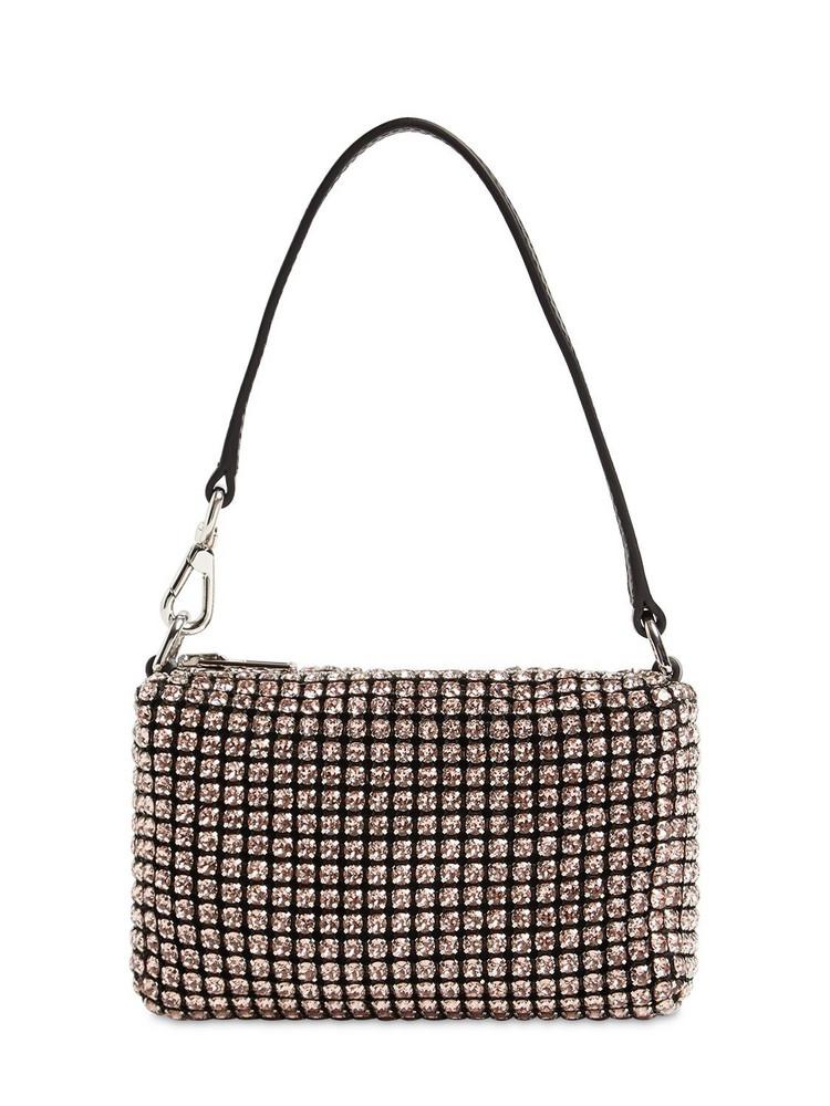 ALEXANDER WANG Wangloc Mini Crystal Bag in stone / sand