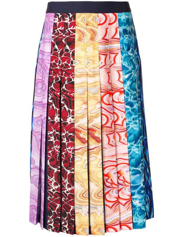 Mary Katrantzou ripple stripes skirt