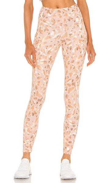 STRUT-THIS Milan Ankle Legging in Neutral in stone / sand / leopard