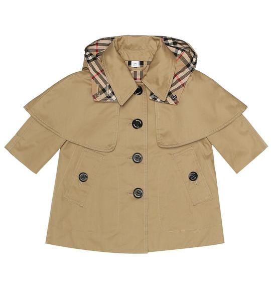 Burberry Kids Baby cotton trench coat in beige