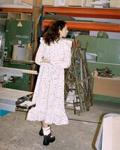 dress,white dress,floral dress