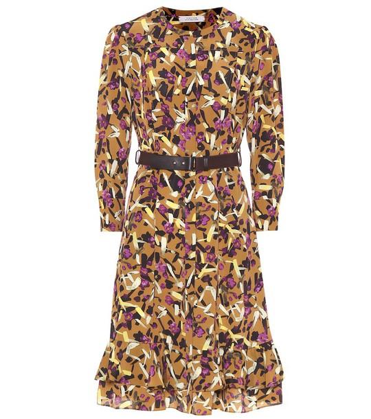 Dorothee Schumacher Abstract Flowering shirt dress in brown